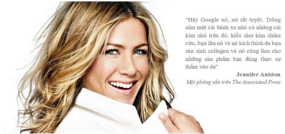 Phương pháp lăn kim được Jennifer Aniston nhắc đến trong một bài phỏng vấn trên tờ The Associated Press