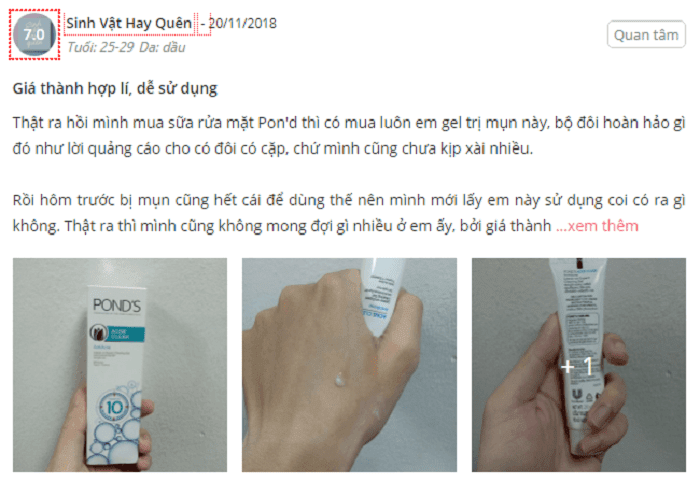 kem-tri-mun-Pond's-acne-clear-review