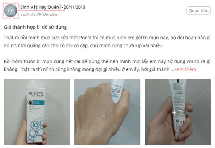 kem-tri-mun-Pond's-acne-clear-review