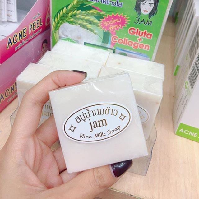 Xà bông tắm trắng Thái Lan Jam Rice Milk Soap bí quyết làm đẹp trong tầm tay