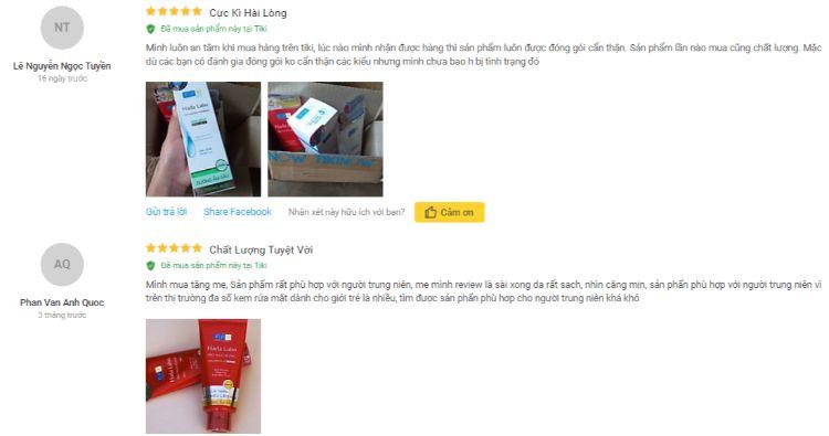 Review của khách hàng sử dụng sản phẩm