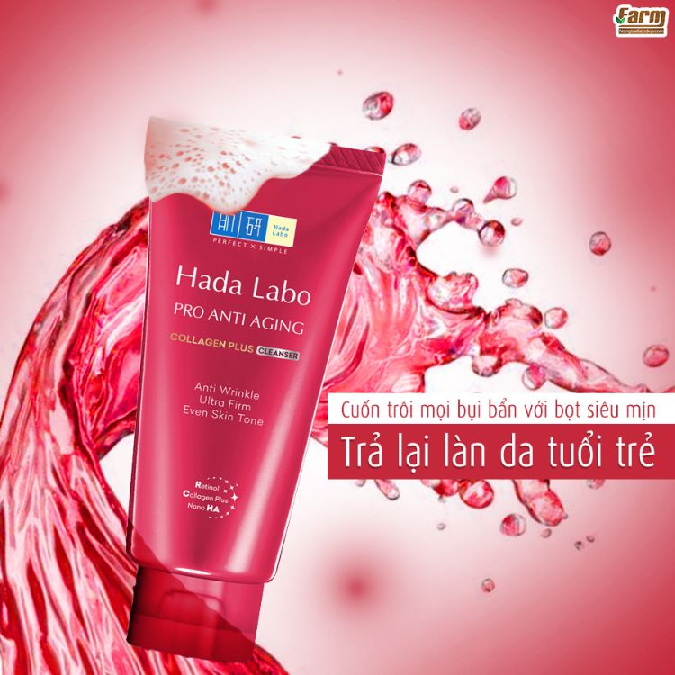 Sữa rửa mặt Hada Labo Pro Anti Aging Collagen Plus Cleanser