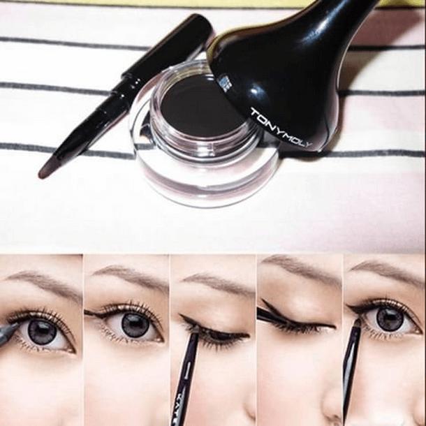 Cách dùng gel kẻ mắt Tonymoly