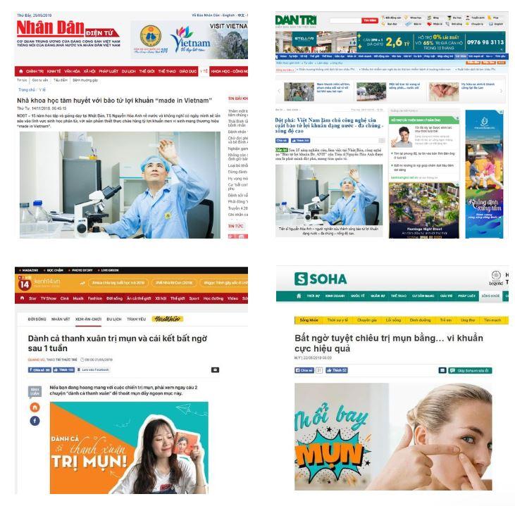 Nhiều đầu báo uy tín có bài đăng về hiệu quả của Skin Fresh