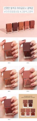 Các màu sơn móng tay 3CE Long Lasting Nail Lacquer