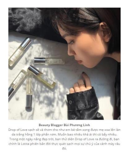 Blogger Bùi Phương Linh chia sẻ về sản phẩm