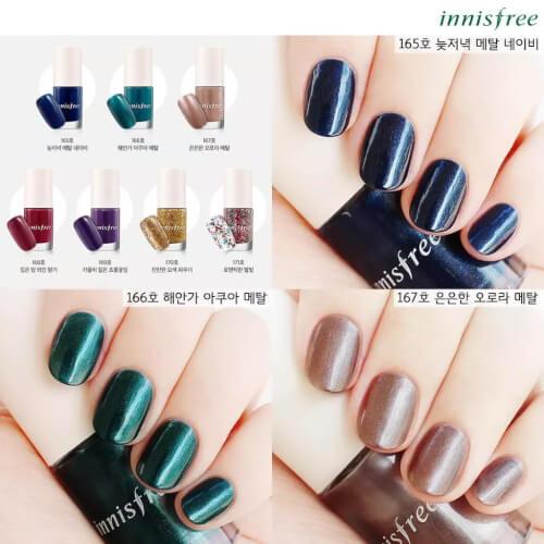 Màu sơn có nhũ của Innisfree Eco Nail Color Pro
