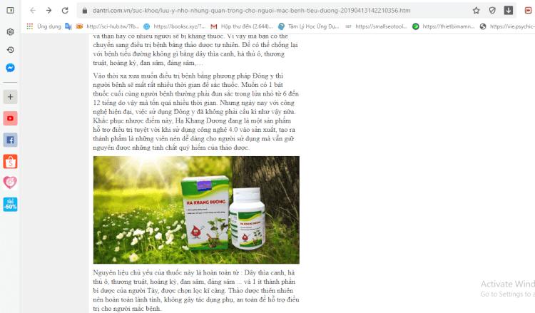 Báo điện tử dantri.com.vn đánh giá cao hiệu quả của Hạ Khang Đường