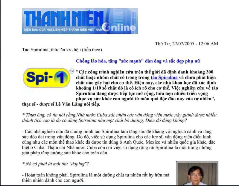 Sản phẩm cũng được đăng bài trên báo Thanh Niên