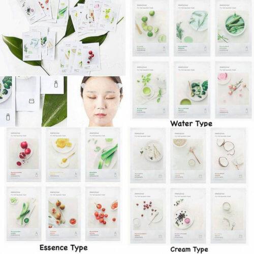 Một số sản phẩm mặt nạ của Innisfree