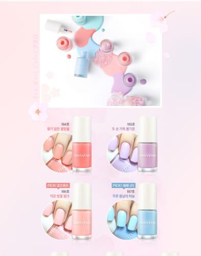Innisfree Eco Nail Color Pro với nhiều gam màu trendy