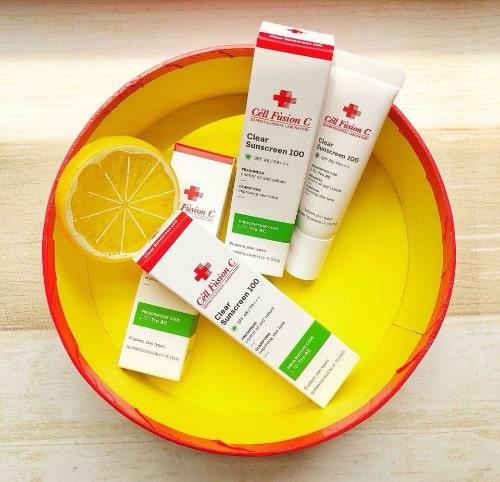 Kem chống nắng Cell Fusion C Clear Sunscreen 100 với nhiều công dụng