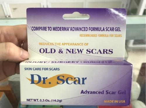 Trên tay kem trị nám dr scar chính hãng Mỹ