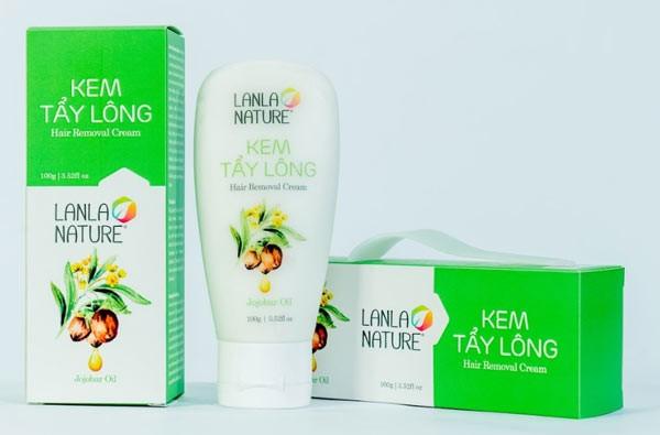 Kem tẩy lông Lanla Nature nhận được nhiều phản hồi tích cực từ người tiêu dùng.