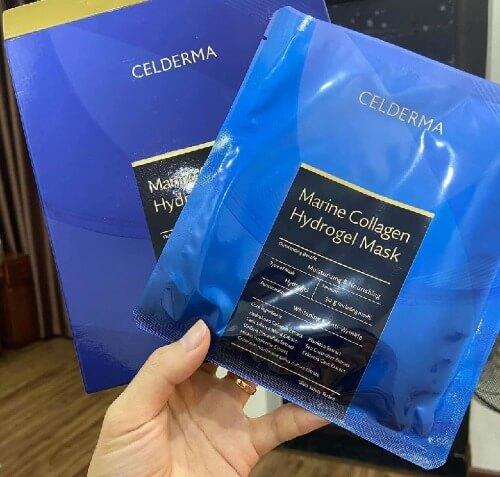 Mặt nạ celderma marine collagen giúp da ẩm mịn và sáng khỏe hơn