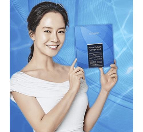 Nữ diễn viên – MC Song Ji Hyo làm đại diện cho thương hiệu mặt nạ Celderma