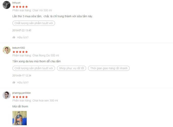 Sữa tắm tesori d'oriente review từ một số người dùng