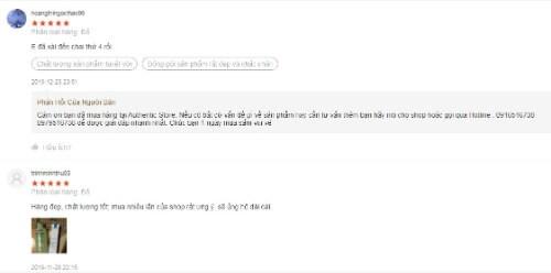 Một số phản hồi từ người dùng về sữa rửa mặt Super Vegitoks Cleaser