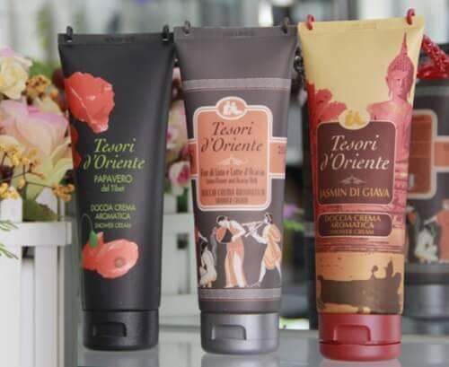 Sữa tắm Tesori d'Oriente có nhiều mùi hương cho bạn lựa chọn