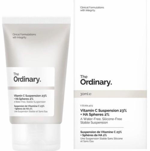 The Ordinary Vitamin C Suspension 23% + HA Spheres 2% được hãng sử dụng nồng độ cao, mang lại tính đặc trị cho sản phẩm.