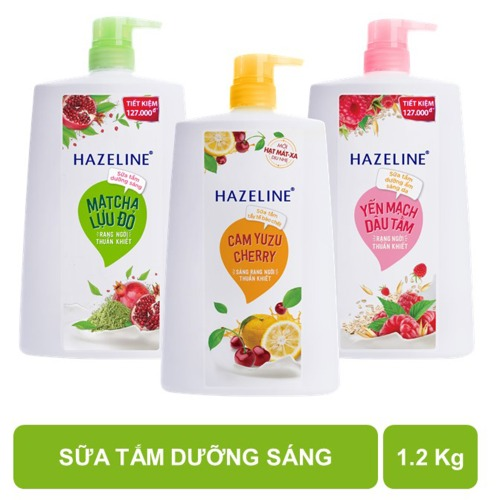 Sữa tắm dưỡng sáng Hazeline các loại