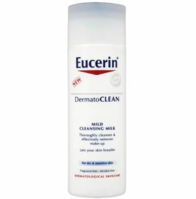 Sữa rửa mặt kiêm tẩy trang Eucerin Cleansing Milk giúp làm sạch, tẩy trang cho da.