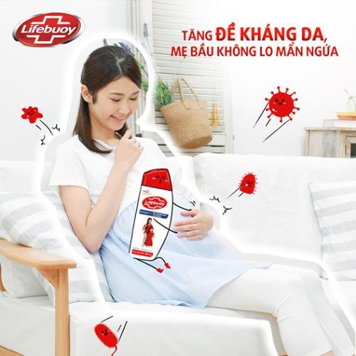 Mẹ bầu cũng có thể dùng sữa tắm Lifebuoy