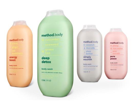 4 em sữa tắm Method Body.
