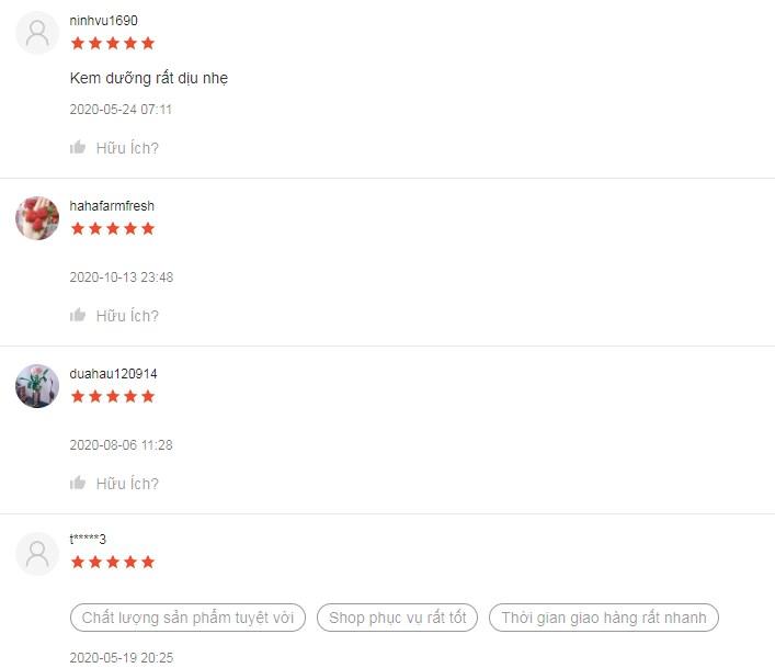 Rất nhiều đánh giá 5 sao từ người dùng trên Shopee dành cho em này