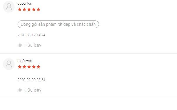 Sản phẩm nhận được đánh giá cao từ người dùng trên Shopee