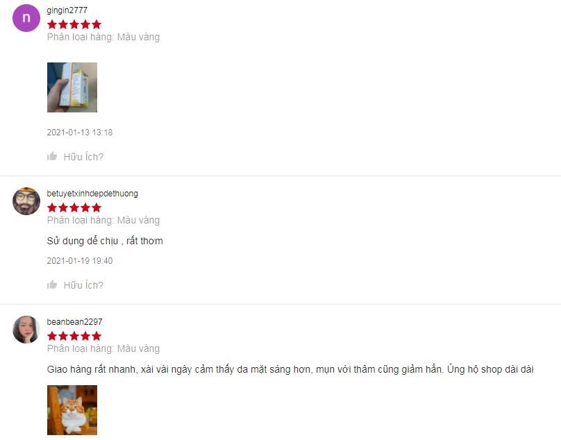 Sản phẩm nhận vô số đánh giá 5 sao từ người dùng