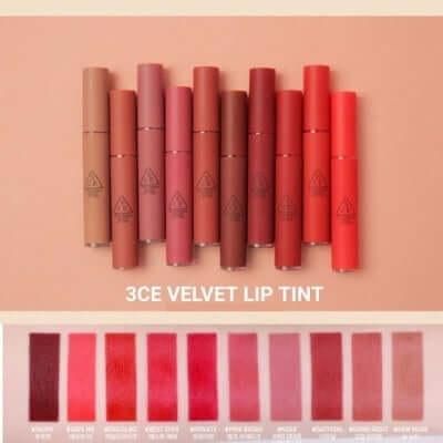 Son môi 3CE Velvet Lip Tint bao bì đơn giản