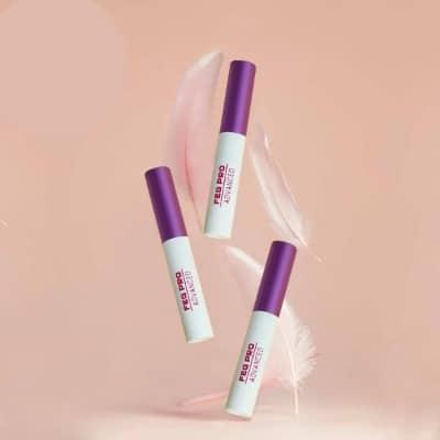Dưỡng mi FEG Pro Advanced màu hồng dùng cho ban ngày.