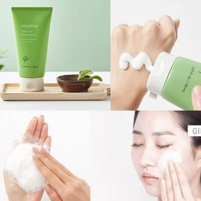 Sữa rửa mặt có tạo bọt làm sạch da hữu hiệu