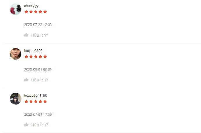 Sản phẩm nhận được rất nhiều đánh giá 5 sao trên Shopee