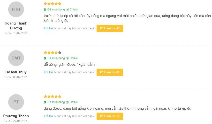 Một số đánh giá của khách hàng về Keto Slim trên Chiaki