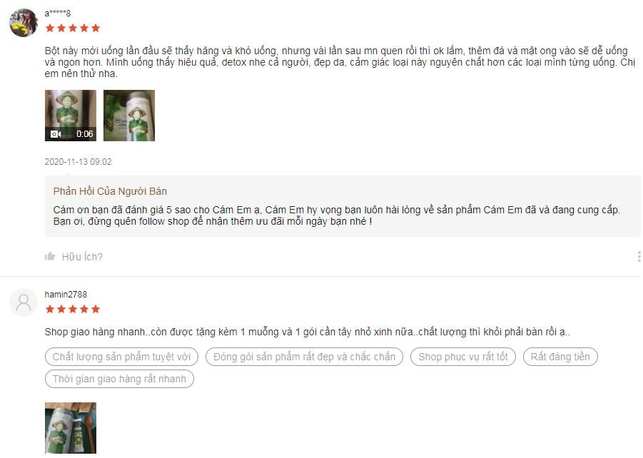 Những phản hồi của khách hàng trên Shopee về Dalahouse