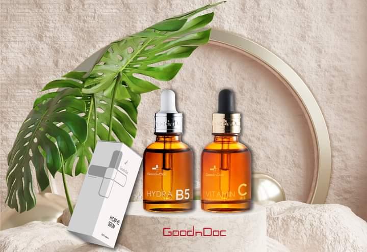 Ngoài serum vitamin B5, GoodnDoc còn cho ra mắt cả serum viamin C.